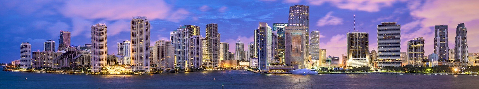 View of Miami Beach in Florida